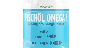 Omega 3 Fischöl - 420 Kapseln - 1000mg Fischöl je Kapsel und den Omega 3 Fettsäuren EPA und DHA – Laborgeprüft - Nachhaltiger Fischfang - Hohe Reinheit