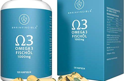 Brainvincible® Premium Qualität Norwegisches Omega 3 Fischöl Kapseln - Hergestellt in Deutschland - 2000 mg pro Tagesdosis - Laborgeprüft für höchste Reinheit